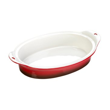 Lodge Oval Ceramic Baking Dish, Red