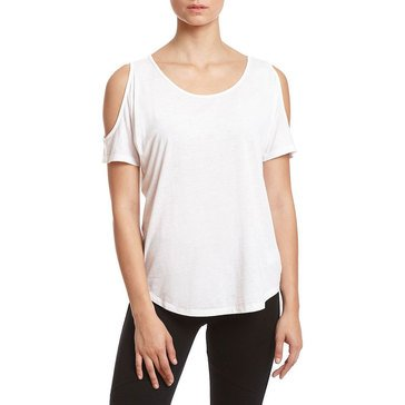 Warrior By Danica Patrick Women's Cold Shoulder Tee in White