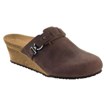 Birkenstock Dana Women's Wedge Clog Brown Oiled Leather