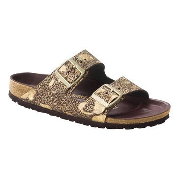 Birkenstock Arizona Women's Sandal Lux Metallic Brown Leather