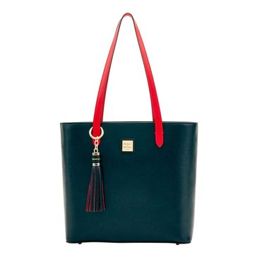 Dooney & Bourke Hadley Tote With Tassel Fob Black/ Red