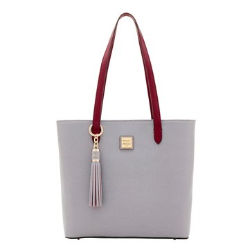 Dooney & Bourke Hadley Tote With Tassel Fob Smoke/ Cranberry
