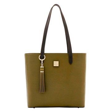 Dooney & Bourke Hadley Tote With Tassel Fob Olive/ Brown