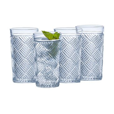 Mikasa Ballard Braid Set of 4 Highball Glasses