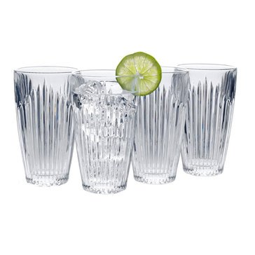 Mikasa Parkside Set of 4 Highball Glasses