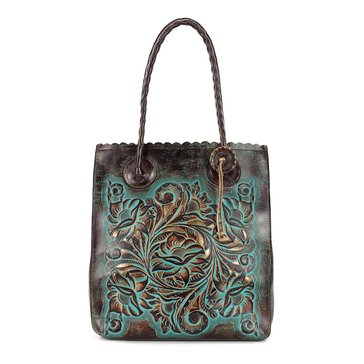 Patricia Nash Turquoise Tooled Cavo Tote