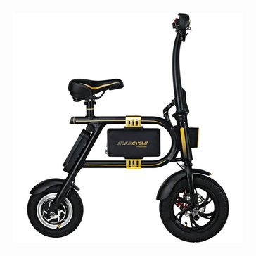 Swagtron Swagcycle Folding Electric Bike - Black