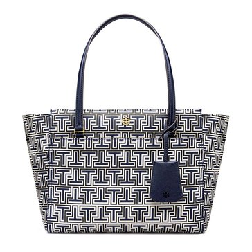 Tory Burch Parker Geo T Small Tote Navy