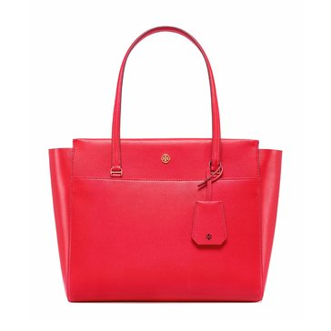 Tory Burch Parker Tote Cherry Apple/Royal Navy