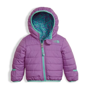 The North Face Baby Girls' Reversible Perrito Bellflower Jacket, Purple