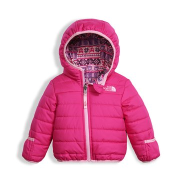 The North Face Baby Girls' Reversible Perrito Petticoat Jacket, Pink