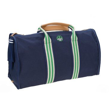 Tory Burch Embroidered T Weekender Royal Navy