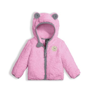 The North Face Baby Girls' Plushee Bear Hoodie, Pink