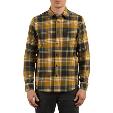 Volcom Men's Caden Long Sleeve Light Weight Flannel Shirt