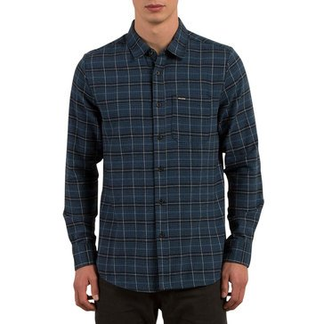 Volcom Men's Brodus Long Sleeve Light Weight Flannel Check Shirt