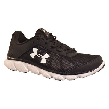 Under Armour Micro G Assert 7 Men's Running Shoe - Black / White