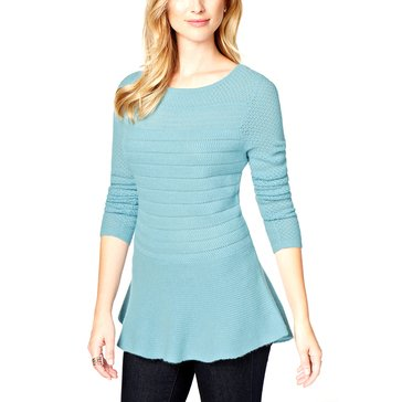 Charter Club Mixed Stitch Peplum Pullover in Watertown