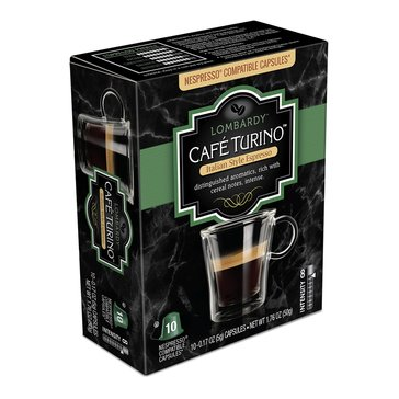 Cafe Turino Lombardy Espresso Capsules, 10-Count