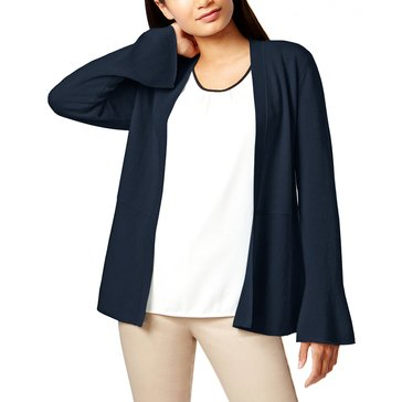 Charter Club Bell Sleeve Peplum Completer in Admiral