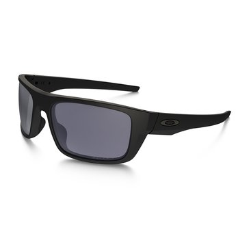 Oakley Men's Drop Point Polarized Sunglasses OO9367-1060, Matte Black/ Grey 60mm