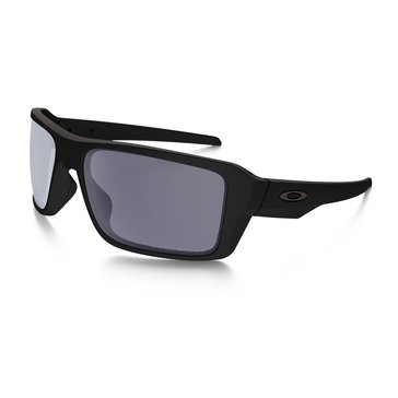 Oakley Men's Double Edge Polarized Sunglasses OO9380-0166, Matte Black/ Grey 66mm