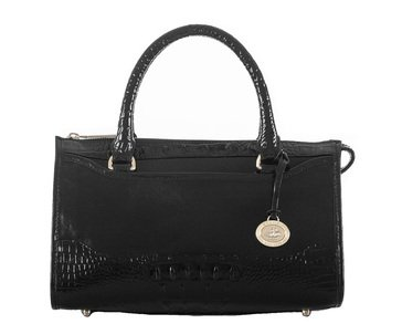 Web Exclusive! Brahmin The Satchel Black Berkshire