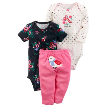 Carter's Baby Girls' 3-Piece Turn Me Around Set