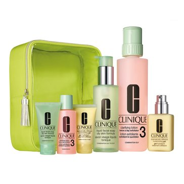 Clinique Great Skin Home and Away 3-Step Set - Skin Types 3 & 4