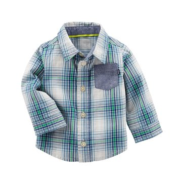 OshKosh Baby Boys' 1-Pocket Woven Shirt