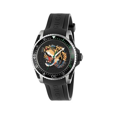 Gucci Unisex Black Tiger Diver Style Watch, 40mm