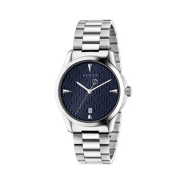 Gucci Women's G-Timeless Blue/Stainless Steel Bracelet Watch, 38mm