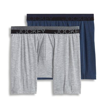 Jockey Sport Outdoor 2-Pack Boxer Brief - Mid Heather/Grey