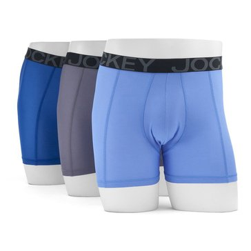 Jockey Active Mesh Boxer Brief 3-Pack - Blue Assorted