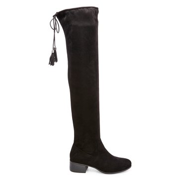 Madden Girl Prissley Women's Over The Knee Boot Black Microsuede
