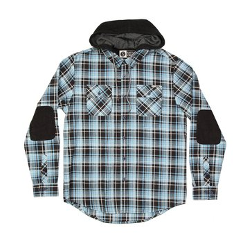 Saltly Crew Men's Stern Long Sleeve Flannel Shirt With Hood