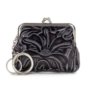 Patricia Nash Large Borse Coin Purse Black Tuscan