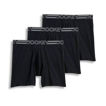 Jockey Active Micro Midway Boxer Brief 3-Pack -Black