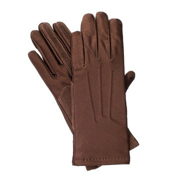 Isotoner Boxed Spandex Driving Glove Fleece Lined Brown