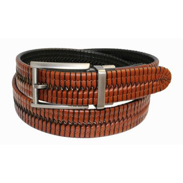 Izod Men's Reversible Braid Belt - Tan/Black