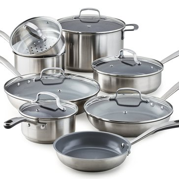 Martha Stewart Collection Culinary Science 14-Pc. Stainless Steel Cookware Set