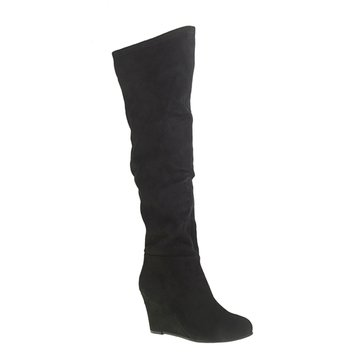 Chinese Laundry Ultra Women's Over The Knee Wedge Boot Black