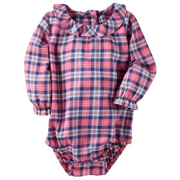 OshKosh Baby Girls' Ruffle Neck Bodysuit