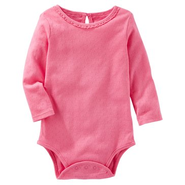 OshKosh Baby Girls' Crochet Trim Bodysuit
