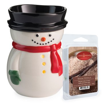 Candle Warmers Snowman Warmer with Warm Vanilla Melts