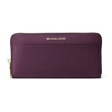 Michael Kors Money Pieces Pocket Zip Around Continental Damson