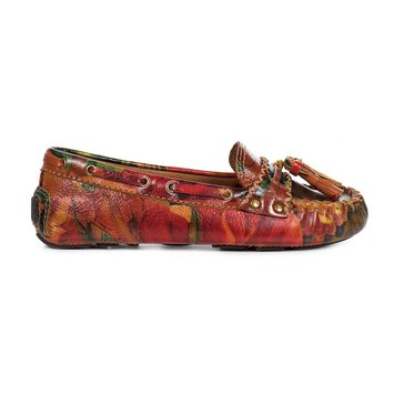 Patricia Nash Domenica Women's Leather Loafer Multi Print