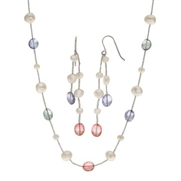 Freshwater Cultured Pearl & Crystal 2-Piece Set