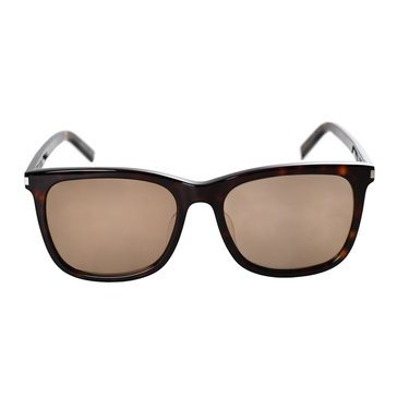 Saint Laurent Women's Square Sunglasses, Shiny Dark Havana/ Brown Gradient 58mm