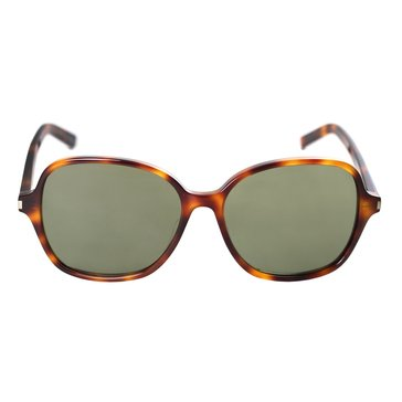 Saint Laurent Women's Classic 8F Sunglasses, Havana/ Green 57mm
