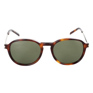 Saint Laurent Men's Round Frame Sunglasses, Shiny Havana/ Brown Gradient 51mm